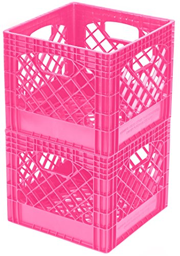 Buddeez Breast Cancer Awareness Milk Crates, 2-Pack