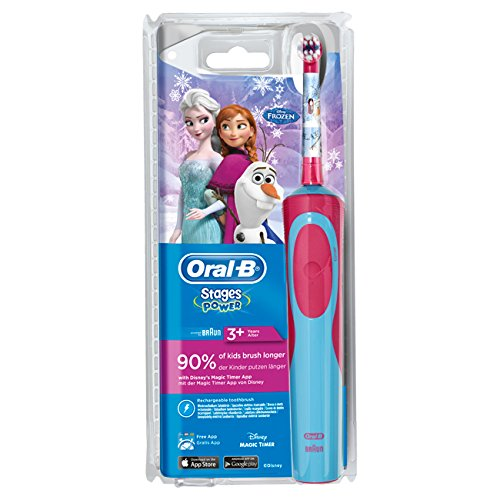 Oral-B Stages Power Advance Power Kids 900 TX - Conjunto de cepillo de dientes eléctrico para niños (incluye 2 cabezales de recambio), diseño de Frozen: ...