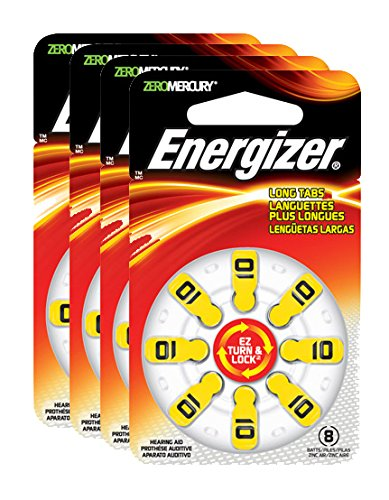 - Energizer EZ Turn & Lock Hearing Aid Batteries, Size 10 (32 count)
