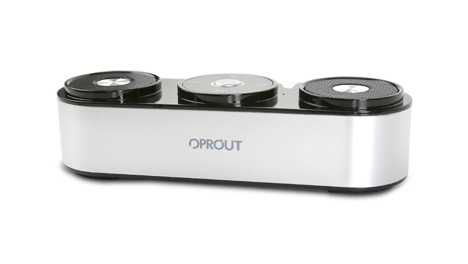 Bluetooth Speakers, OPROUT 10W Portable Wireless Speakers with 20h Playtime, Computer Speaker with Dual-Driver Enhanced Bass Resonator (Silver)