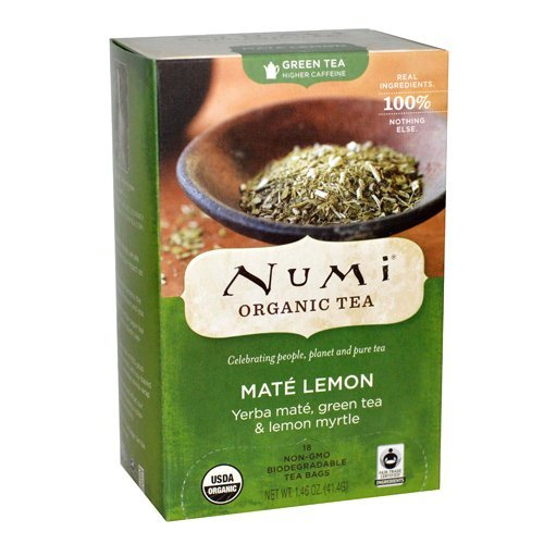 Numi Tea Rainforest Green Tea Supplement, Mate Lemon, 18 Count by Numi (Green Rainforest Mate Numi)
