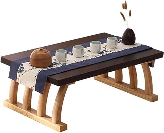 Jardín Mesas Mesa de Centro sólido Tatami de Madera pequeña Mesa ...