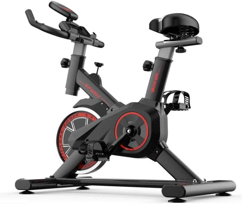 Divgdovg Bicicleta Estática para El Hogar Bicicleta de Spinning. Bicicleta Estática Vertical conPantalla LCD, Pulsómetro, Resistencia Variable, Altura Ajustable, Indoor, Volante de Inercia B
