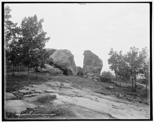 Photo: Judges' Cave,West Rock Park,New Haven,Connecticut,CT,Detroit Publishing Co,c1900