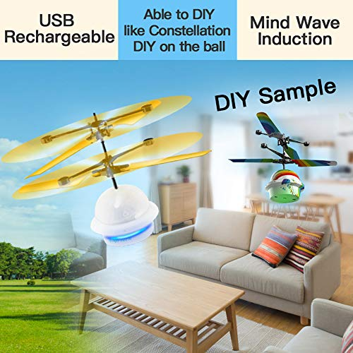 Diditech Mind Sensor Flying Ball Infrared Induction Flying Toy Attention Training Plane DIY Helicopter for Ten Year Old and Above by Diditech (Image #4)