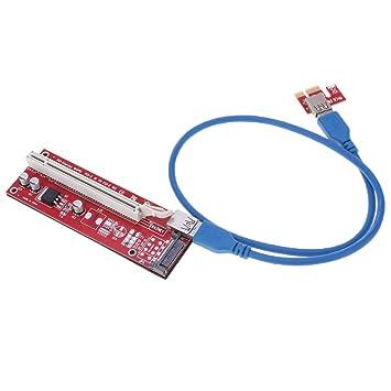 KESOTO Adaptador De Tarjeta Gráfica Riser PCI-E 1xa 16x ...