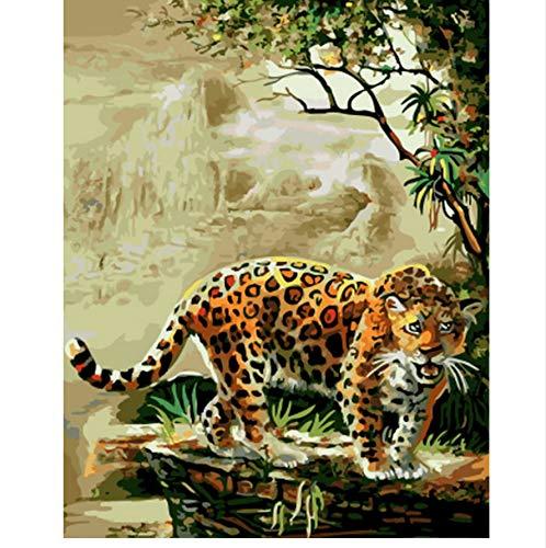 XIGZI Bild Bild Bild ölgemälde by Zahlen wanddekoration DIY malerei auf leinwand für heimtextilien Machen einen Spaziergang 40x50 cm,Mit Holzrahmen,F B07NV7CP4D | Verschiedene Stile  17a564