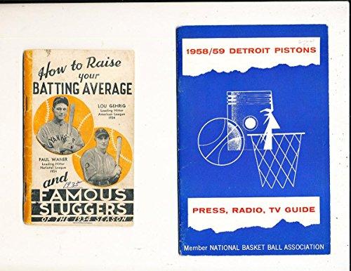 1958 Detroit Pistons NBA Press Media Guide
