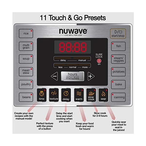 NUWAVE NUTRIPOT 6-Quart DIGITAL PRESSURE COOKER with Sure-Lock Safety System; Dishwasher-Safe Non-Stick Inner Pot; 11… 3