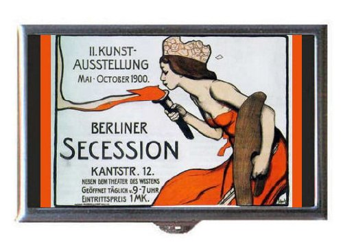 Germany 1900 Berlin Poster Art Guitar Pick or Pill Box USA Made