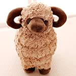 Smilesky Plush Sheep Stuffed Animal Toys Cuddly Soft Dolls Gifts Home Office Decorations Brown 10""