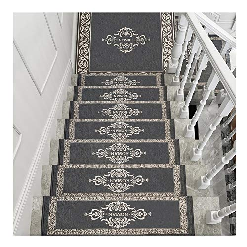 (Stair Treads Step Mats Runner Rugs Carpet Pads Rectangle and Semicircle Self Adhesive Short Fluff Non-Slip 4 Colors 4 Sizes (Color : C- 30X100CM, Size : 5pcs))