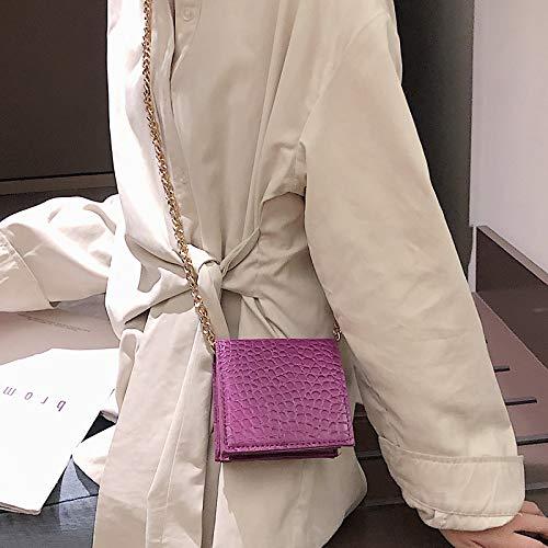 Polyvalente Mode Carré À Mini Sacs Épaule Petit Xmy Main Chaîne Bleu Sac wqHXgn01