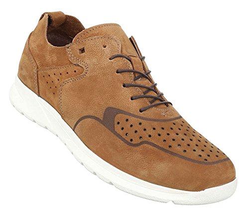 Herren Schuhe Halbschuhe Sportliche Sneakers Camel