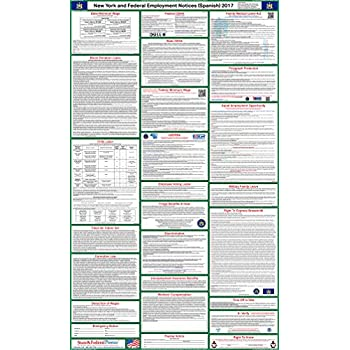 Amazon new york federal combination labor law posters new 2017 spanish new york state and federal labor law poster laminated 24 sciox Images