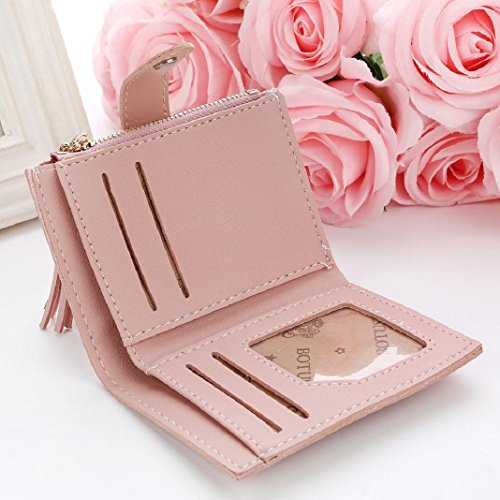 Handbag Tassel Wallet Pink Clearance Coin Holders Purse Letters Women Short ShenPr Zipper Card xF41qwq