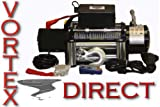 10000 LB Pound Vortex Recovery Winch Bonus Package! 2 remotes (FAST SHIPPING - 1 TO 4 BUSINESS DAY DELIVERY)