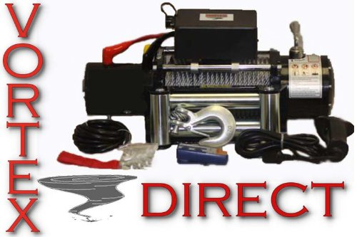 NEW VORTEX 9500 LB Pound Recovery Winch Bonus Package! 2 remotes Jeep Truck or Trailer (FAST SHIPPING - 1 TO 4 BUSINESS DAY DELIVERY) by Vortex