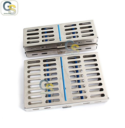 G.S 9 PCS DENTAL STERILIZATION CASSETTE,TRAY,BOX FOR 10,7&-5 INSTRUMENTS by G.S SURGICAL (Image #1)