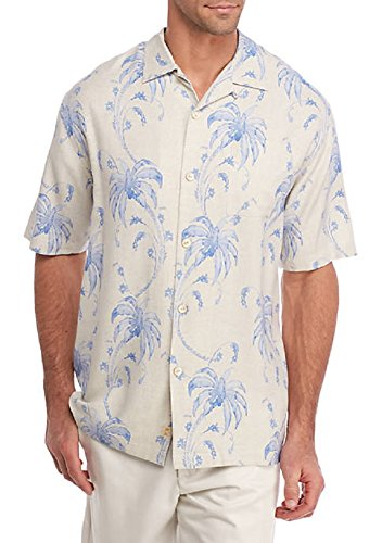 Tommy Bahama Men's Palm Tree Tropics Camp Shirt Continental ()
