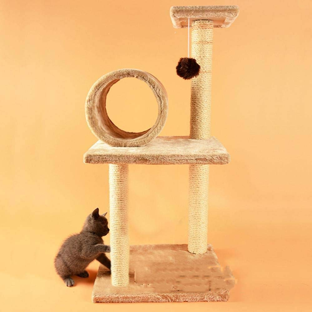 Cat Furniture Play Towers and Trees Cat Tree Cat Climbing Frame cat Snatch Column cat Toy Cat Platform Pet Toy sisal