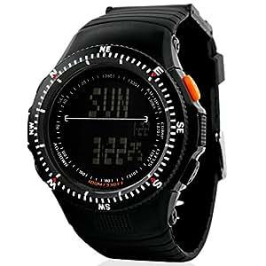 SKMEI Reloj digital multifunción Hombre 2 hora alarma fecha retroiluminación negro banda de goma reloj de