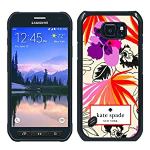 Genuine Kate S6 Active Case,Kate Spade 28 Black Samsung Galaxy S6 Active Screen Phone Case Lovely and Grace Design