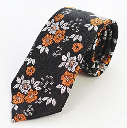 Txrh Corbatas Floral Delgado de los Hombres Corbata de Seda ...