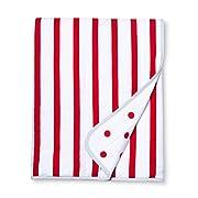 Cloud Island Jersey Knit Reversible Baby Blanket Stripes