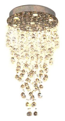 Lite Source Lighting Halogen Chandelier - Lite Source EL-10070 Girolamo Crystal Ceiling Lamp, Chrome with Crystals