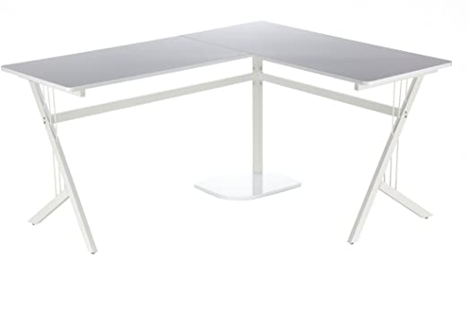 HJH Office Pollux 673470 Escritorio Unisex adulto Blanco (Brillante) 155x55x76 cm