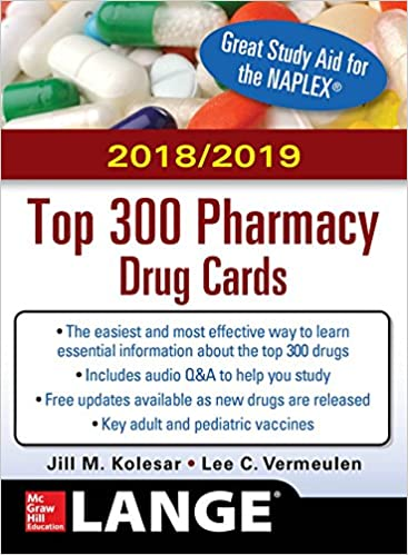 731dbc94c McGraw-Hill s 2018 2019 Top 300 Pharmacy Drug Cards  9781260108842 ...