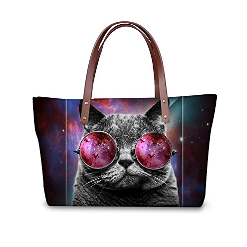 Women for Black Design Handbag Showudesigns Dogs 6 Bookbag Brand Luxury Color Pugs Famous xS6q1UwXY