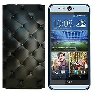 TECHCASE---Cubierta de la caja de protección para la piel dura ** HTC Desire Eye ( M910x ) ** --Material de Diseño Textil Gris Interior Botones