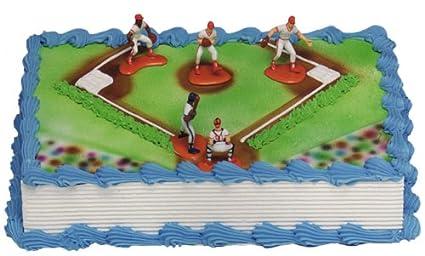 Amazon baseball cake kit 5 figures toys games baseball cake kit 5 figures solutioingenieria Images