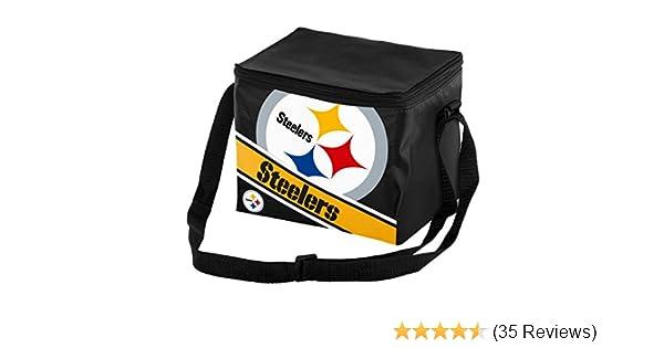 Pittsburgh Steelers Big Logo Stripe 6 Pack Cooler