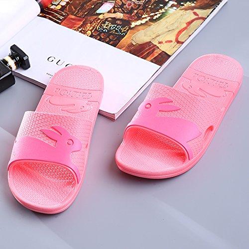 Hui suole West Camera bagno pantofole pantofole plastica in suole antislittamento Red estate Donna Ladies pantofole Y Summer Soft zI1daz