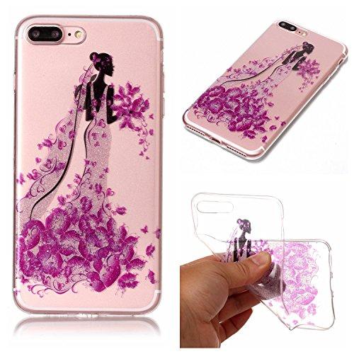 """Hülle iPhone 7 Plus / iPhone 8 Plus , LH Prinzessin TPU Weich Muschel Tasche Schutzhülle Silikon Handyhülle Schale Cover Case Gehäuse für Apple iPhone 7 Plus / iPhone 8 Plus 5.5"""""""
