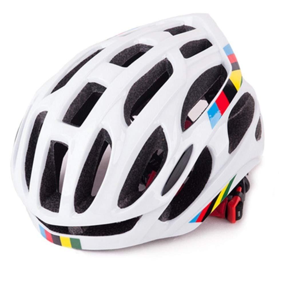 CZPF Rennradhelm Einteilige MäNner Und Frauen Vier Jahreszeiten Fahrradhelm Sport Outdoor Schutzhelm Off-Road,Weiß-OneGröße(5762CM)
