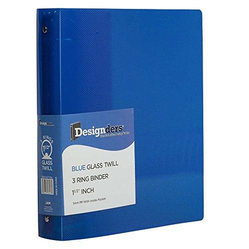 """JAM Paper Plastic 3 Ring Binder- 1.5"""" - Blue - Sold individu"""