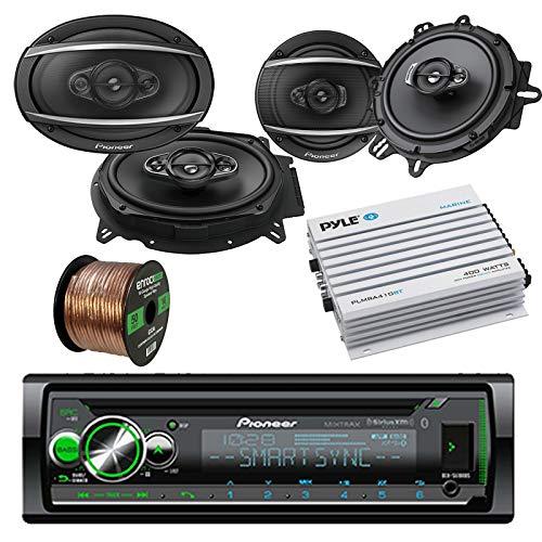 Pioneer DEHX Car CD MP3 Stereo Player with Bluetooth AM/FM Radio Bundle 2 x 6x9