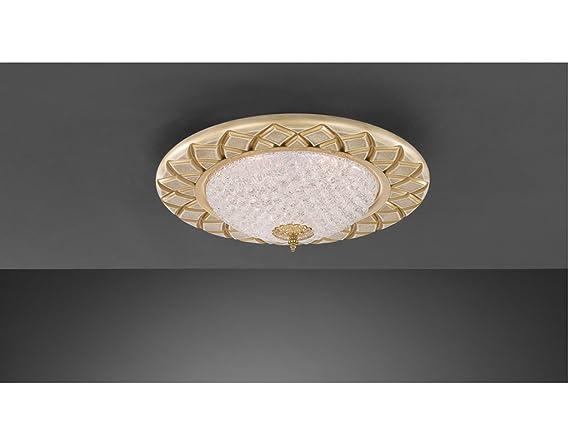Plafoniere In Legno E Vetro : La lampada incisa tonda plafoniera a soffitto classica e