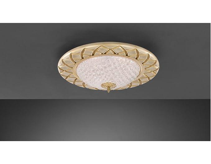 Plafoniere Moderne Vetro : La lampada incisa tonda plafoniera a soffitto classica e