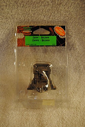 RARE LEMAX SPOOKY Crypt Beloved 54323 Tombstone SCARY HALLOWEEN RETIRED 2008]()