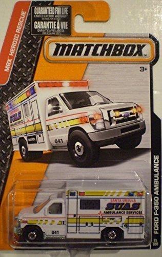 Matchbox, 2015 MBX Heroic Rescue, Ford F-350 Ambulance [White] 75/120