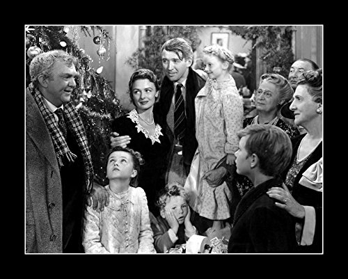 8 x 10 All Wood Framed Photo Stewart, James It's A Wonderful Life (Old Hollywood Posters)