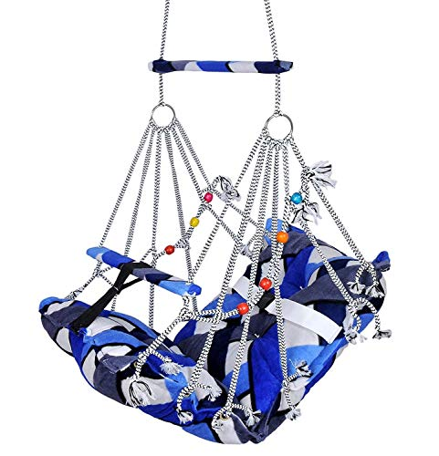 The villa® Cotton Swing for Kids Baby's Children Folding and Washable 1-3 Years with Safety Belt Home Garden Jhula for…