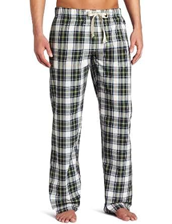 Bottoms Out Men's Plaid Frat Pack Sleep Pant, Green, Medium
