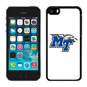 Unique Iphone 5c White Case Ncaa Conference USA Middle Tennessee Blue Raiders 04 Cheap Perfect Cellphone Deals Protector