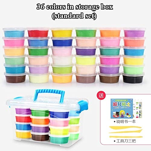 36color standard A Laliva 12   24   36 colors Air Dry Super Light Jumpimg Modeling Clay Play Dough Playdough Foam Clay Intelligent Plasticine Polymer Clay - (color  24color Luxury)